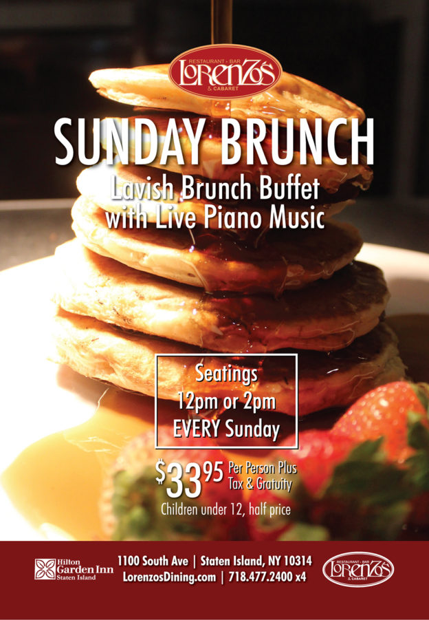 Lorenzo's Sunday Brunch flyer