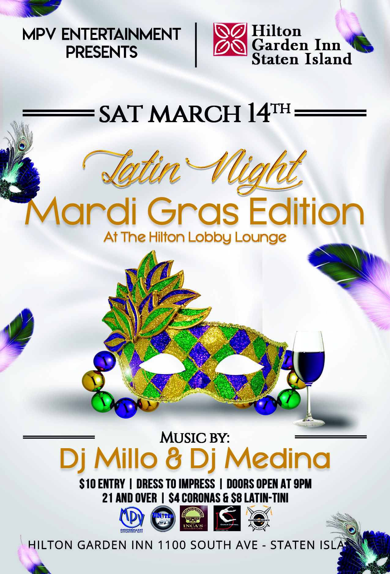 Latin Night Mardi Gras Edition